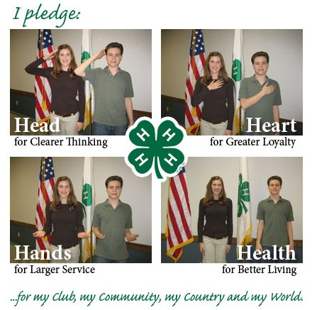 Academy Science Practices the 4-H Pledge and Motto | Academy